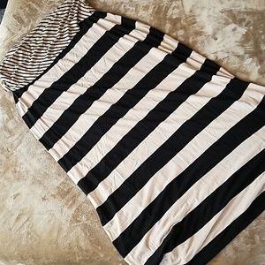 Calvin Klein Stretch Long Striped Skirt Sz L